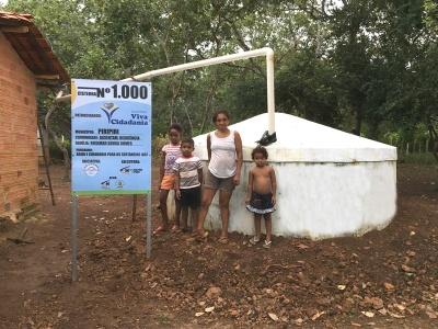 Milésima Cisterna patrocinada pelo IVC e Comitê Betinho será Inaugurada