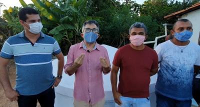Diretoria da Obra Kolping prestigia inauguração de cisternas no Quilombo Mimbó