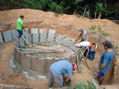 Instituto Viva Cidadania e Kolping do Piauí constroem cisternas e capacitam pedreiros